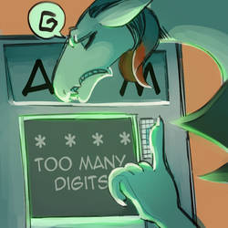 Daily Doodle: Too much digit