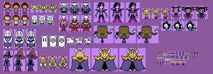 Custom Undertale Overworld Sprites