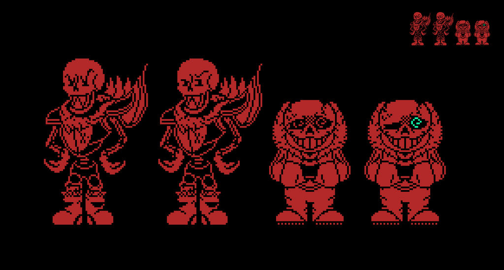 PSB!UnderFell Sans and Papyrus Sprites by EllistandarBros on