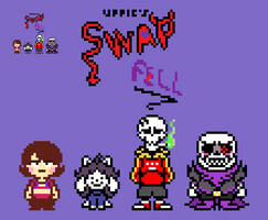 uppie's Swapfell Cast Overworld Sprites by EllistandarBros