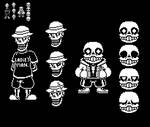 (Filler) Beta Papyrus and Sans Sprites