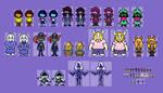 Deltarune Cast Overworld Sprites (1)