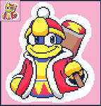(Kirby) King Dedede Pixel Art