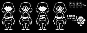 (Shitpost) Fanservice Frisk and Chara Sprites