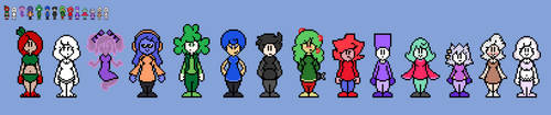 (3 Commision) RedsTheatre's Bfdi Humanized Designs by EllistandarBros