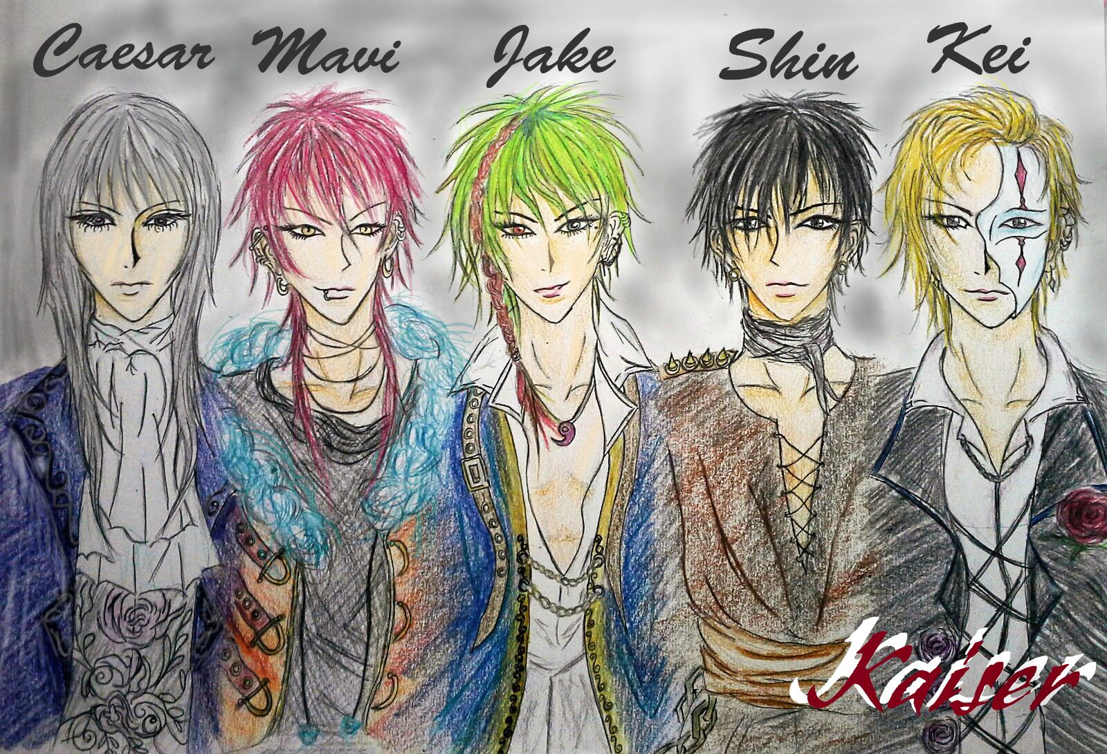 Kaiser - Band Members by MuArtGL on DeviantArt