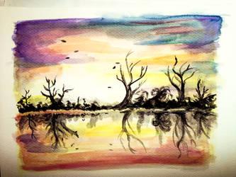 Sun Set Reflection by MuArtGL