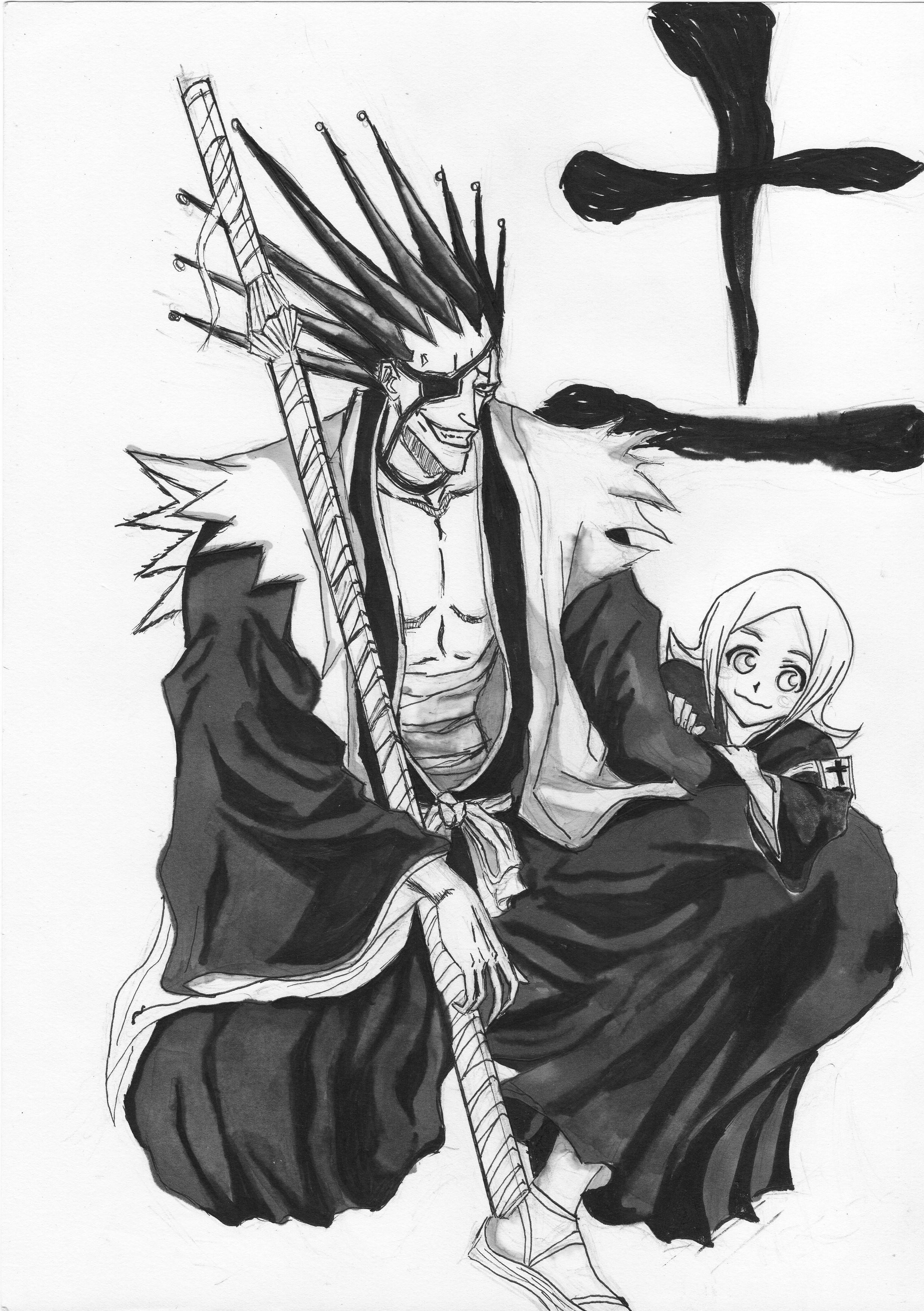 Bleach -Kenpachi Zaraki and Yachiru Kusajishi ink by MuArtGL on ...