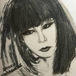 Sayoko Yamaguchi - Charcoal Drawing  by MuArtGL