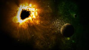 Black Hole and Destruction by nomadOnWeb