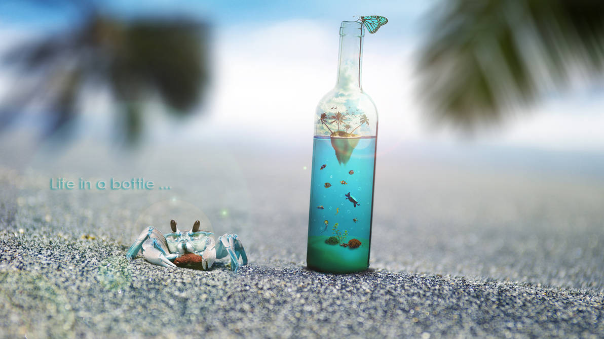 Life in a bottle #2 by nomadOnWeb