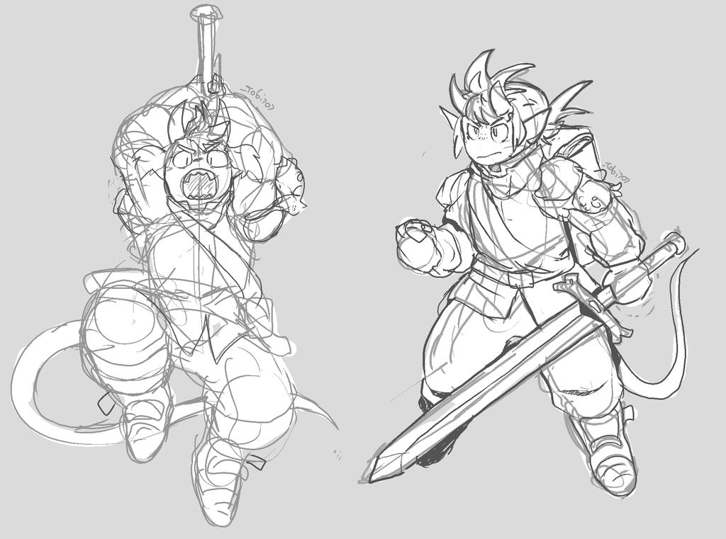 Some Sword Doodles by TOBI707