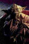Yoda - digital oil painting