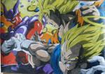 Dragonball Z- Color de Goku y Vegeta VS Janemba