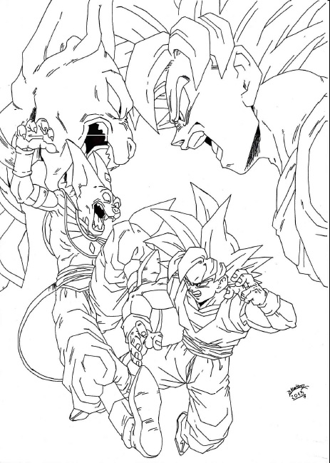 Lord Beerus Dbz Coloring Pages