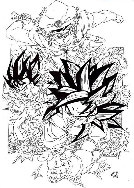 Dragon Ball Z Lineart : Dragonball gt grupo z lineart by triigun on deviantart