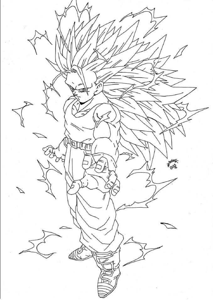 Dragon Ball Z Lineart : Dragonball z trunks super sayan lineart by triigun on