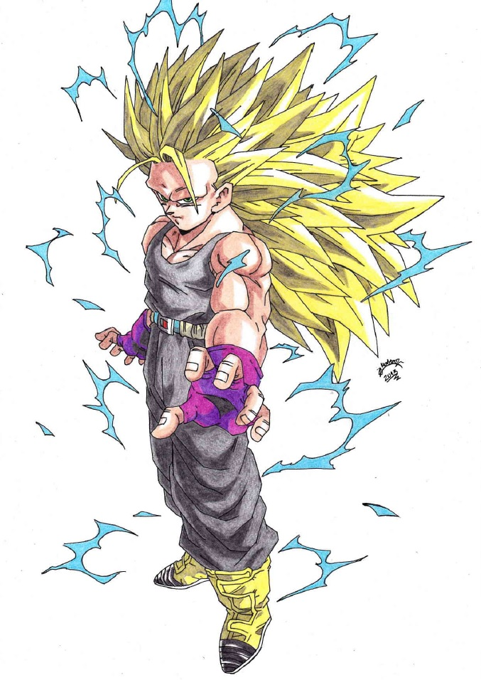 Dragonball Z Trunks Super Sayan 3 Colour By Triigun On