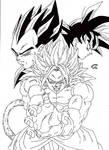 DragonBall AK - Goku and Vegeta VS Kadakku Lineart