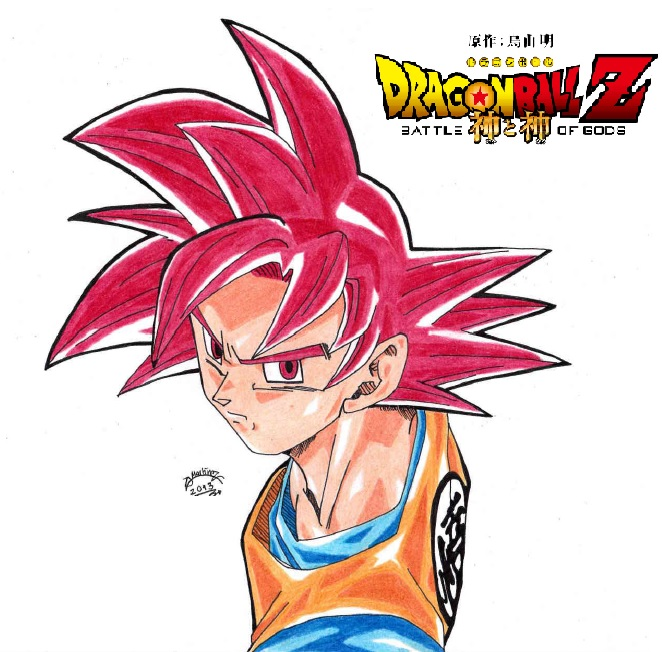 Dragonball Z Goku Super Sayan God Colour By Triigun On Deviantart