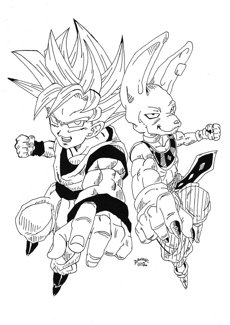 Dragonball Z Battle Of Gods  Goku and Bills by TriiGuN on DeviantArt