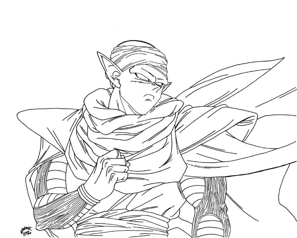 Piccolo Para Colorear: Piccolo Lineart For Sauron88 By TriiGuN On
