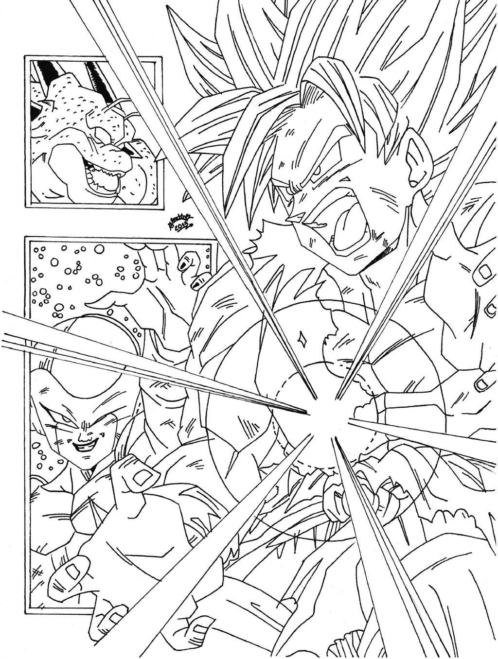 Dragon Ball Z Lineart : Dragonball z saga de freezer lineart by triigun on