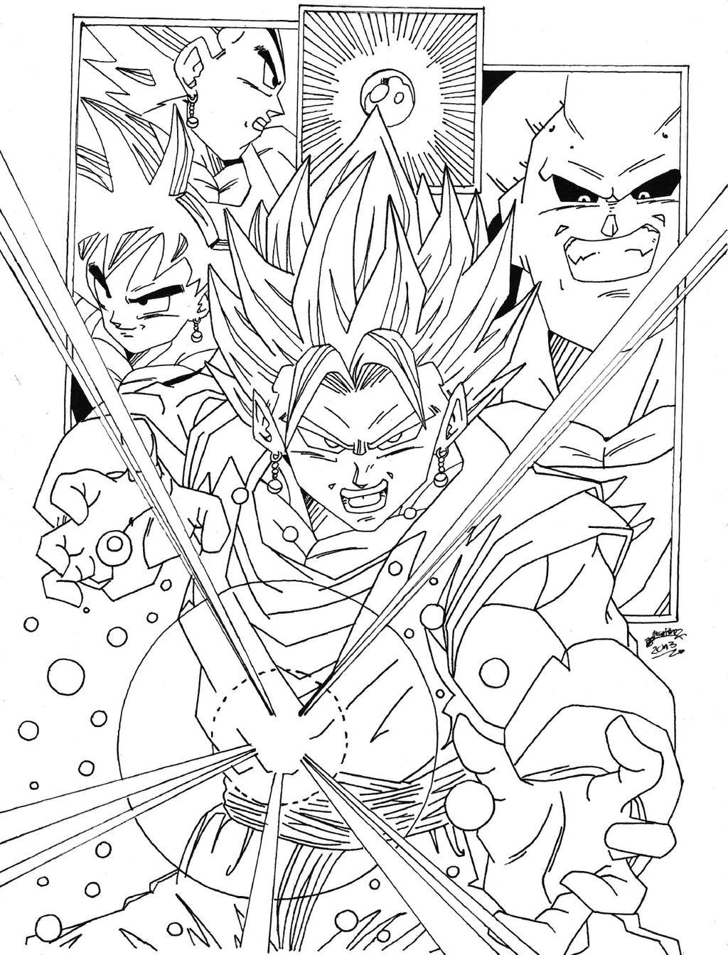 Dragon Ball Z Lineart : Dragonball z saga de buu lineart by triigun on deviantart