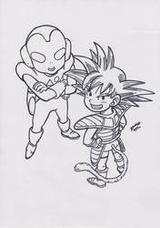 The Jaco Patrolman and Goku V1 by TriiGuN