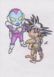 The Jaco Patrolman and Goku V2 by TriiGuN