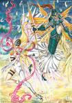 Digimon fan art - Angewomon and Ophanimon by AlexaFV