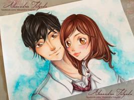 Ao Haru Ride - Kou and Futaba by AlexaFV