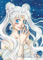 ACEO #03  - Sailor Moon, Princess Serenity by AlexaFV