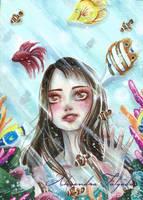 ACEO #14 - Aquarium by AlexaFV