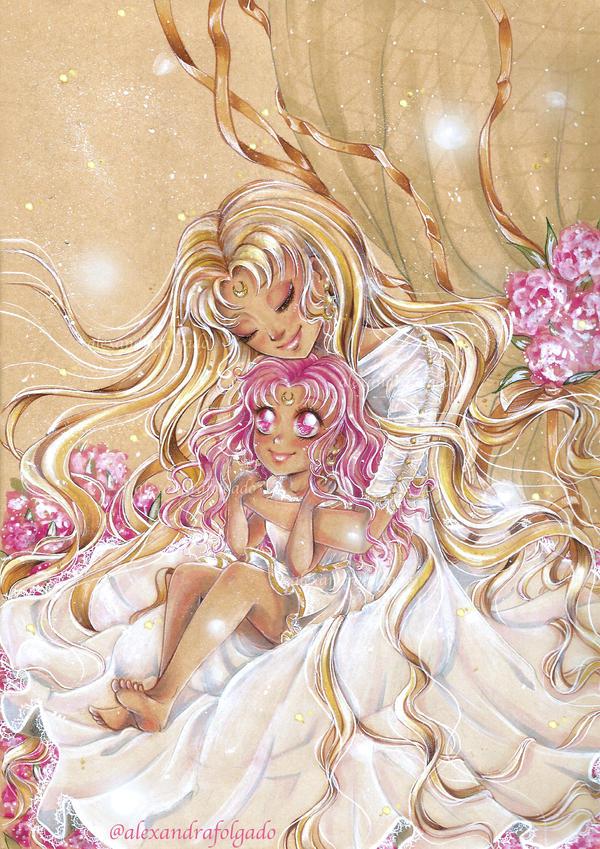 Sailormoon - Usagi and Chibiusa by AlexandraFolgado