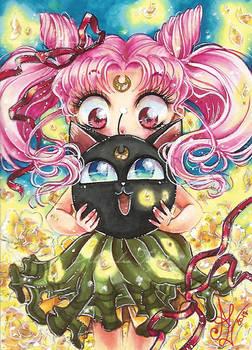 ACEO #34 Chibiusa and Luna P