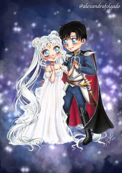 Chibi Princess Serenity and prince Endymion