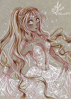 ACEO #41 Kaori OC by AlexaFV