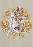 Sailor Venus and Artemis by AlexaFV