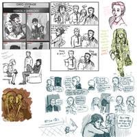 Sherlock Sketchdump by Deisi