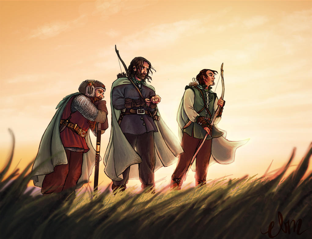 The Three Hunters by Deisi