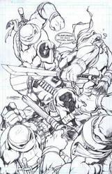 Deadpool VS Aliens by emilcabaltierra
