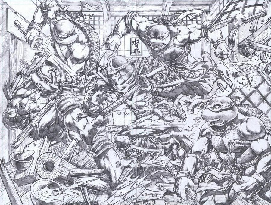 TMNT vs Shredder by emilcabaltierra
