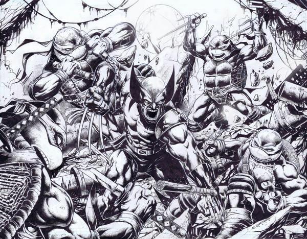 Mutant Wars Inked Version by emilcabaltierra
