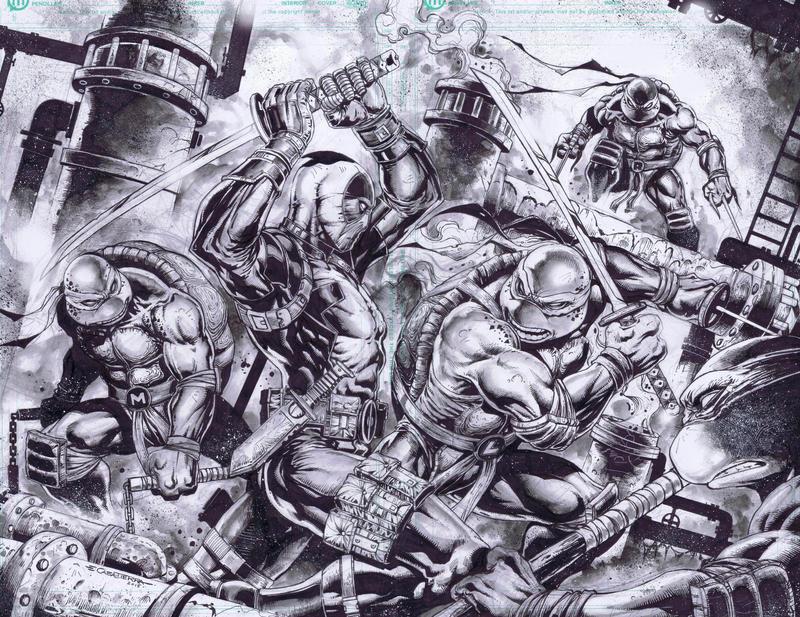 Deadpool vs TMNT by emilcabaltierra
