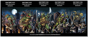 TMNT VAriant Covers 101-105