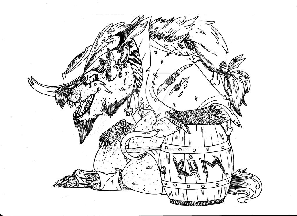 Hyena pirate! coloring page by DonivanessDoodles on DeviantArt