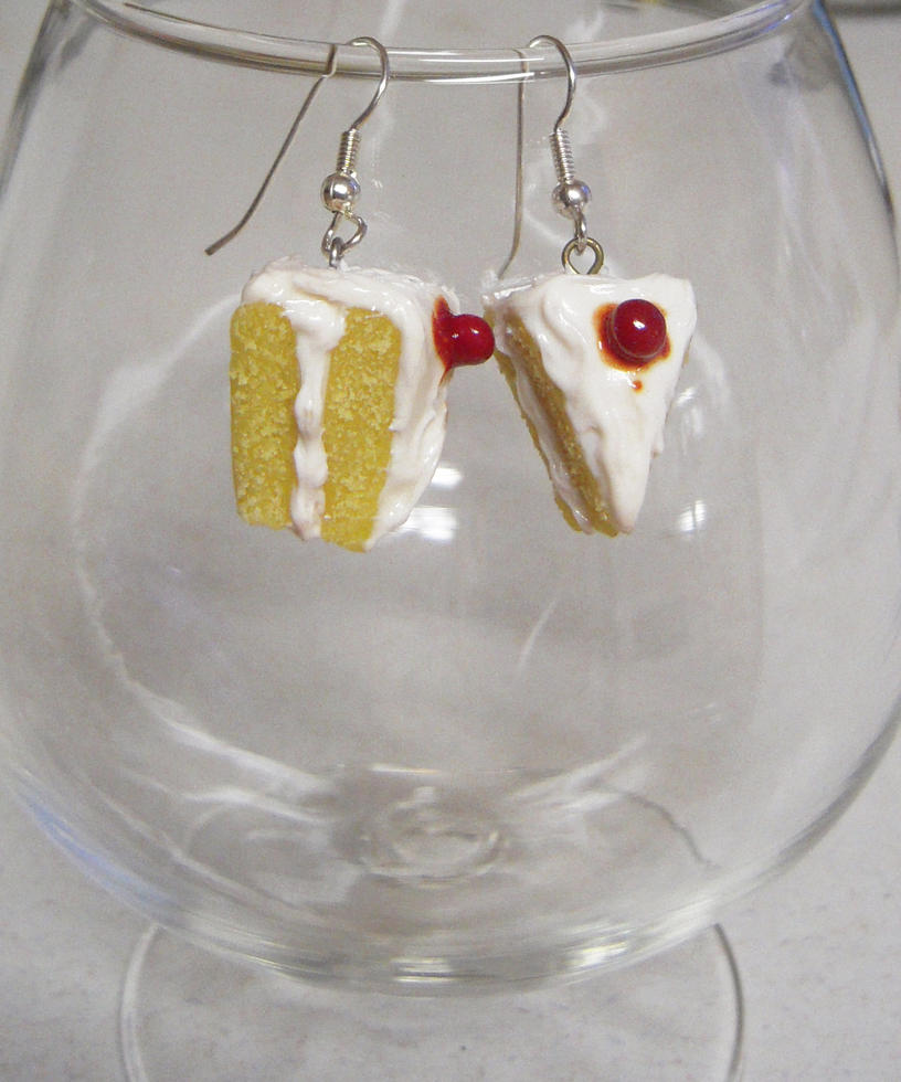 Cherry Cake Earrings by lily-inabottle