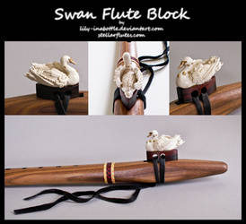 Swan Flute Block by lily-inabottle