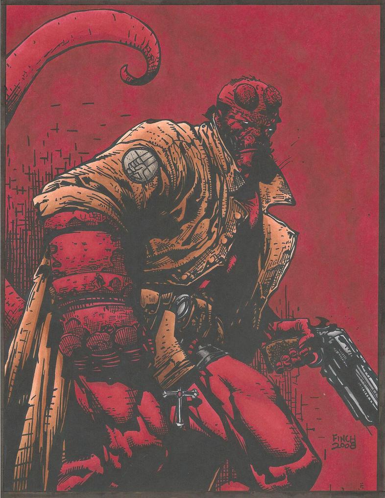 Hellboy by David Finch by Luzproco on DeviantArt
